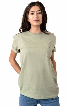 (103067) WK87 Workwear Pocket T-Shirt - Tinted Sage Heather