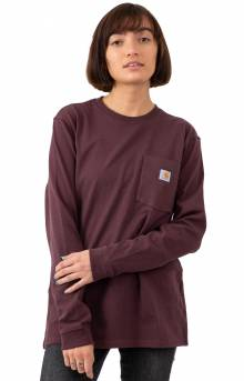 (103244) Workwear Pocket L/S Shirt - Deep Wine