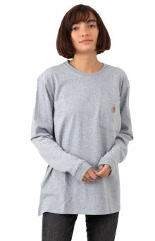 (103244) Workwear Pocket L/S Shirt - Heather Grey