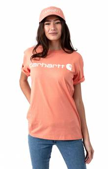(103592) WK195 Workwear Logo T-Shirt - Coral Haze Heather