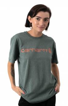 (103592) WK195 Workwear Logo T-Shirt - Fog Green Heather