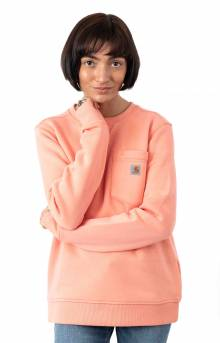 (103925) Clarksburg Pocket Crewneck - Coral Haze Heather
