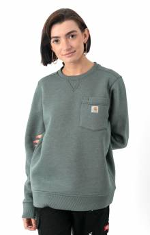 (103925) Clarksburg Pocket Crewneck - Fog Green Heather