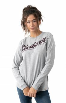 (104523) Original Fit Heavyweight L/S Carhartt Graphic Shirt - Heather Grey