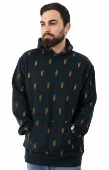 All Over Carrot Pullover Hoodie - Navy