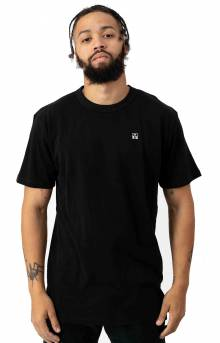 C Block Knit T-Shirt - Black