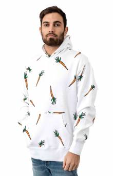 All Over Carrot Pullover Hoodie - White