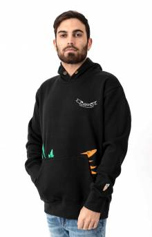 Carrot Pocket Pullover Hoodie - Black