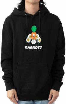 Ring Around Carrot Pullover Hoodie - Black