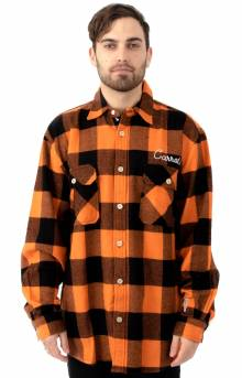 Signature Lumbejack Flannel Button-Up Shirt - Orange