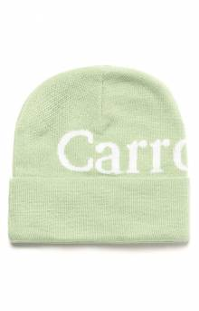 Wordmark Beanie - Sage Green