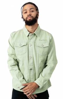 Wordmark Denim Jacket - Sage Green