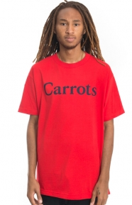 Carrots Clothing, Wordmark T-Shirt - Red/Navy