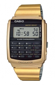 Casio Clothing, CA-506G-9AVT Data Bank Watch - Gold