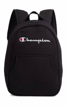 (Ch1095) Champion Reverse Weave Pullover Backpack - Black