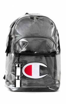 (CH1151) Supercize Clear Backpack - Black