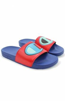 IPO Color Block  Slides - Red Multi/Surf The Web