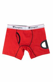 C Life Logo Leg Boxer Brief - Red