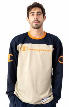Football Jersey Plaited - Navy/Cocoa Butter