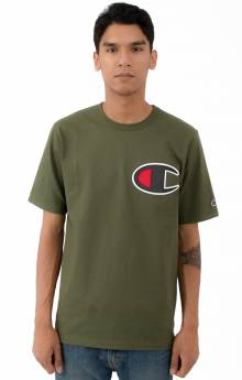Heritage C Patch Applique T-Shirt - Hiker Green