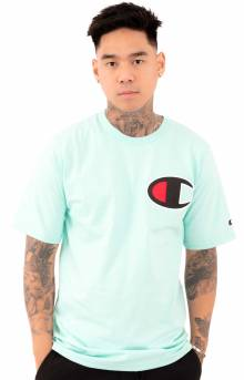 Heritage C Patch Applique T-Shirt - Waterfall Green