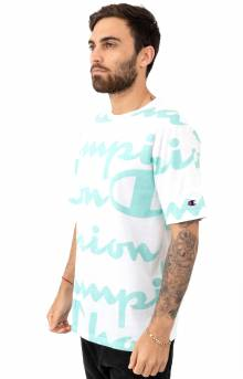 Heritage Giant AO Script T-Shirt - White/Waterfall