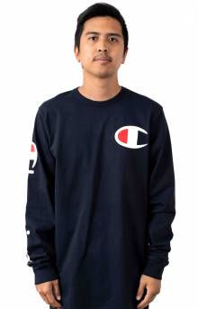Heritage Large C L/S Shirt - Navy