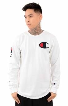 Heritage Large C L/S Shirt - White