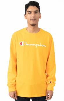 Heritage Script Embroidered L/S Shirt - C Gold/White