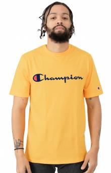 Heritage Script Embroidered T-Shirt - C Gold