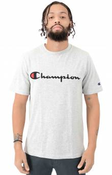Heritage Script Embroidered T-Shirt - Grey