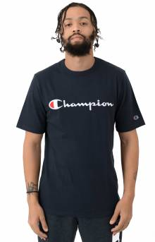 Heritage Script Embroidered T-Shirt - Navy