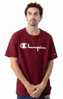 Heritage Script T-Shirt - Sepia Red