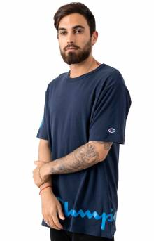 Heritage Wrap Around Script T-Shirt - Navy
