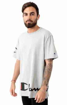 Heritage Wrap Around Script T-Shirt - Oxford Grey