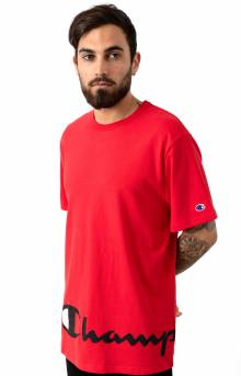 Heritage Wrap Around Script T-Shirt - Team Red Scarlet