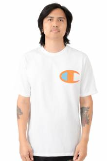 Large Logo Heritage T-Shirt - White/Orange