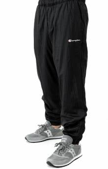 Nylon Warm Up Pant - Black