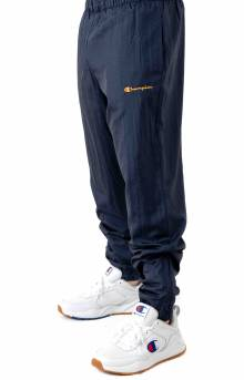Nylon Warm Up Pant - Navy