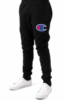 Reverse Weave Big C Chainstitch Logo Jogger - Black