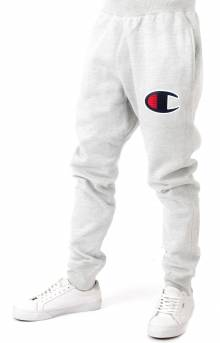 Reverse Weave Big C Chainstitch Logo Jogger - Oxford Grey