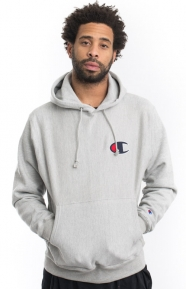 Reverse Weave C Graphic Pullover Hoodie - Oxford Grey