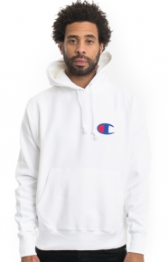 Reverse Weave C Graphic Pullover Hoodie - White