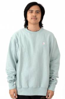 Reverse Weave Crewneck - Fleeting Green