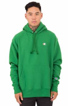 Reverse Weave Pullover Hoodie - Tall Pines Green