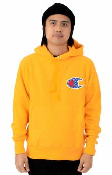 Reverse Weave Sublimated C Logo Pullover Hoodie - C Gold