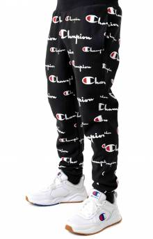 RW All Over Multi Scale Script Jogger - Black