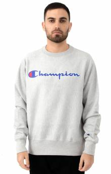 RW Chainstitch Script Crewneck - Oxford Grey