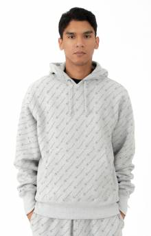 RW Diagonal All Over Print Pullover Hoodie - Oxford Grey