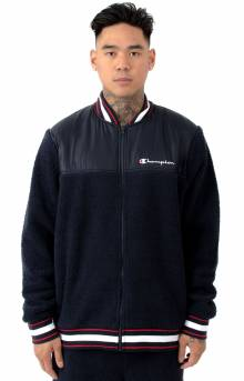 Sherpa Baseball Jacket - Navy